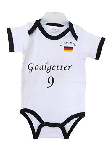 Baby Body ~ Goalgetter - Größe 86/92 ~ Deutschland Babybody Fußball Kinderbekleidung