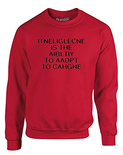 Intelligence is, Kinder Gedrucktes Sweatshirt - Rote/Schwarz 9-10 Jahre