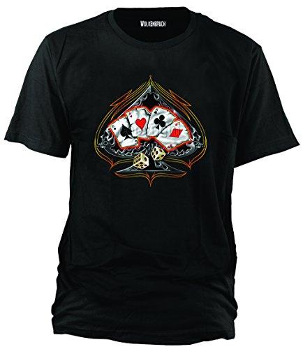 T-Shirt Four of a Kind Poker, schwarz, Gr.3XL