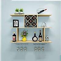 LUYION- El Diseño Creativo Puede Cargar El Estante Colgado Pared-Montado 40Kg del Vino De La Casa (100X20x67cm),Natural