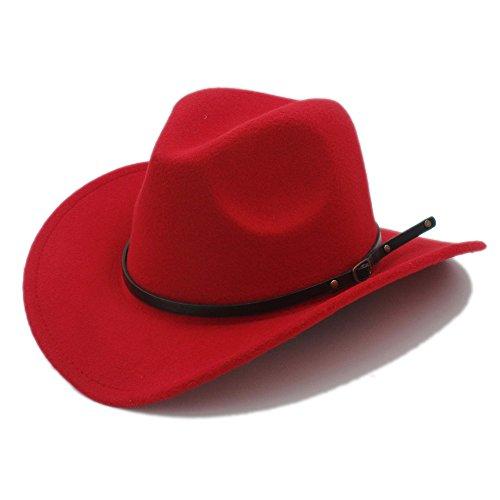 178a3d87d HYF Hommes Western Cowboy Chapeau Pour Gentleman Cowgirl Jazz Eglise Cap  Avec Cuir Toca Sombrero Cap Resistol Cowboy Chapeaux (Couleur : 2, Taille :  ...