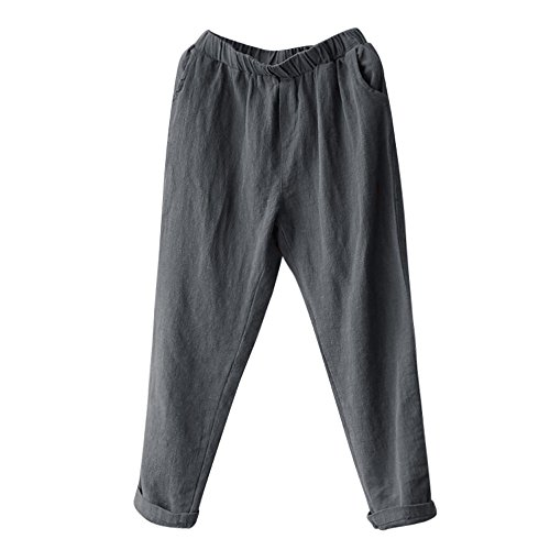 Jogging Damen Chino Jeans Slim Skinny Loose Sport Hosen Yoga Designer Boyfriend Jersey Jazz Relaxed Bein Pluderhosen, Plus Size Leinen Pluderhosen Baggy Lose Casual (3XL,Grau1) (Relaxed Fit-yoga-hosen)