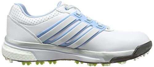 Adidas Adipower Boost, Scarpe De Golf Donna Bianco (blanc / Bleu Tendre / Chaux Ensoleillé)