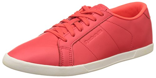 Reebok Classics Women's Npc Mini Core Red and White Leather Tennis Shoes – 7 UK 41pswyKiWCL