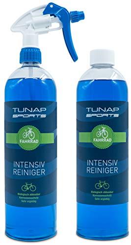 TUNAP SPORTS Intensiv Fahrradreiniger, 2 x 1000 ml Spray | Pflege und Wartung von MTB bis Rennrad - Rahmen und Teile (2in1-Pack)
