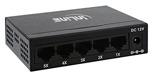 InLine 32206M Netzwerk Switch (5 Port, Fast Ethernet, 10/100MBit/s, Desktop, lüfterlos) Metall