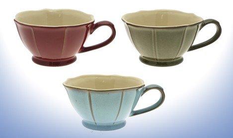 Set von 6reaktiver Glasur Suppenteller/Tasse, Kaffeetassen, Trinken Schokolade