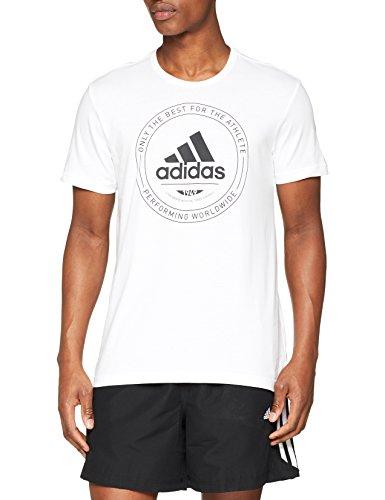 Adidas cv4515, t-shirt uomo, white, m