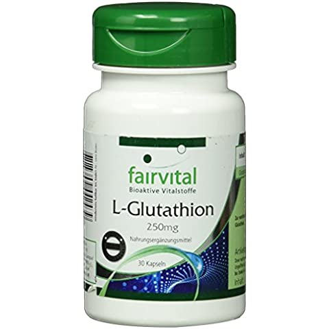 Fairvital - L-glutatione concentrato 250 mg, vegetale - 30 capsule
