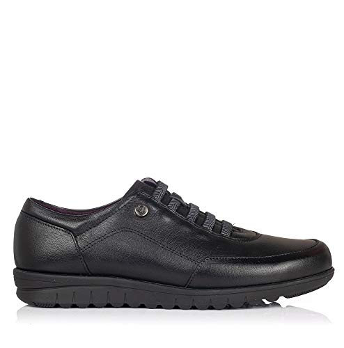 PITILLOS 2985 Zapato Cordon Elastico Piel Mujer Negro