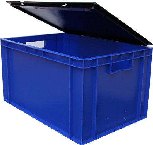 3 Stk. Ordner-Archivbox mit Deckel für 7 Aktenordner, blau