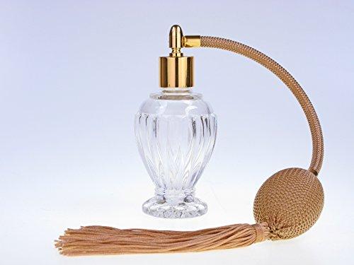 Divo Glas Flasche leer nachfüllbar Parfüm Duft Zerstäuber, 46ml, mit Gold Quaste Spray und Fassung Gold inklusive Trichter. (Parfüm-zerstäuber Nachfüllbar Schwarz)