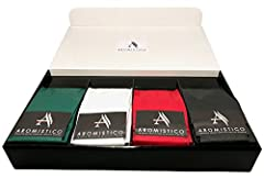 Idea Regalo - AROMISTICO COFFEE | VARIETA' DI CAFFE' SELEZIONATO IN CONFEZIONE REGALO | Selection of Premium Italian Blends | Coffee Beans Hamper (1 Venezia, 1 Roma, 1 Firenze and 1 Napoli - BEANS / CHICCHI)