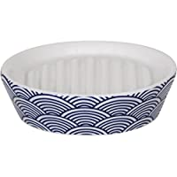 MSV Bento Soap Dish, Ceramic, White/Blue, 30 x 20 x 15 cm