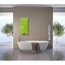 Infrarotheizung Badheizung IBP 750 Inklusive Handtuchhalter & Thermostat mit Fernbedienung Motiv Grün Badheizkörper