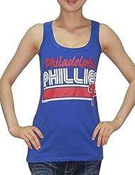 MLB Mujer Philadelphia Phillies deportivo de cuello redondo Camiseta de (Vintage), MLB, mujer, color azul, tamaño S