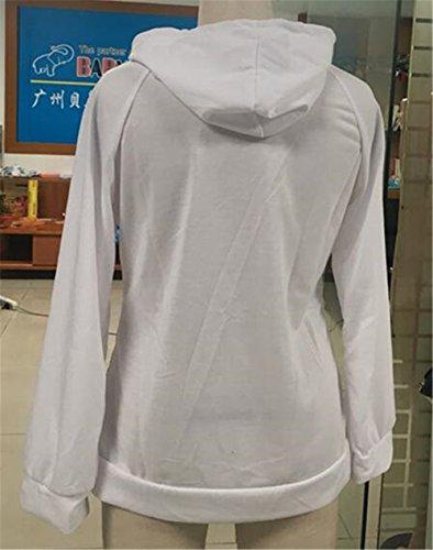 Kerlana Sweat-shirt à Capuche Manches Longues Femme Pulls à Paillette Manteau Hoodie Sweat-Shirts Top ElÉGant pink