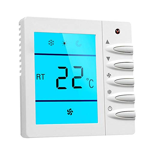 NAKELUCY Heizung Kühlen Thermostat, Smart Wireless Thermostat LCD Zentrale Klimaanlage Thermostat Cool Universal Digital Nicht Programmierbarer Mehrstufiger Thermostat Für Office Home