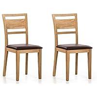 Marchio Amazon -Alkove Hayes - Sedia per tavolo da pranzo, 42 x 54,5 x 94 cm, quercia silvestre, set da 2