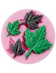 Auket Feuilles d'érable fondant savon sucre Artisanat Gâteau décoration de biscuits de moule de silicone # 145