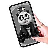 ALONGB Adorable Panda Animal Diseño TPU Bumper + PC Hard Back Cubierta de los Casos para Samsung Galaxy J5 Prime, Anti-rasguños Estuche para celulares para Galaxy J5 Prime