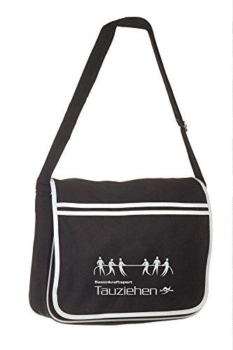 Retro Messenger Bag BG71 schwarz Tauziehen