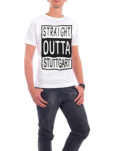 """Design T-Shirt Männer Continental Cotton """"Stuttgart"""" - stylisches Shirt Typografie Städte Städte / Stuttgart Reise von David Springmeyer Weiß"""