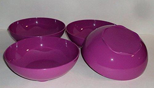 Set of 4Tupperware Offene House Floresta (24Unze Müslischalen in Berry violett Coupe Cereal Bowl