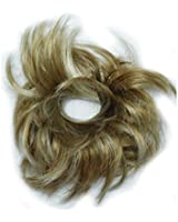 GIZZY® Ladies Girls Medium Golden Blonde With Highlights Fake Hair Scrunchy on a Ponio Band
