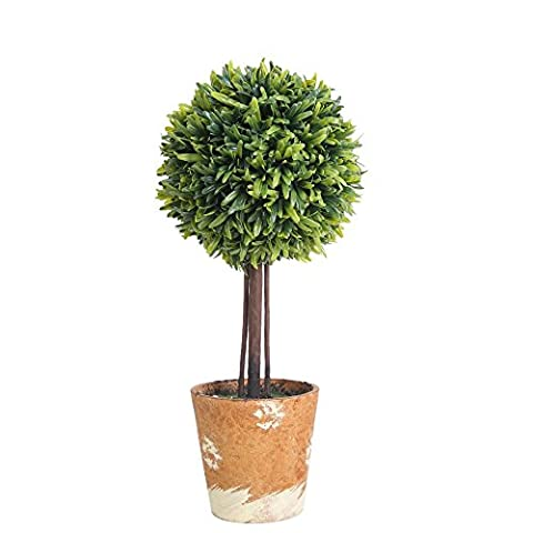 Luyue Artificial Faux Potted Plants For Home Decor,Green,Pack of 1 (Style-A Medium)