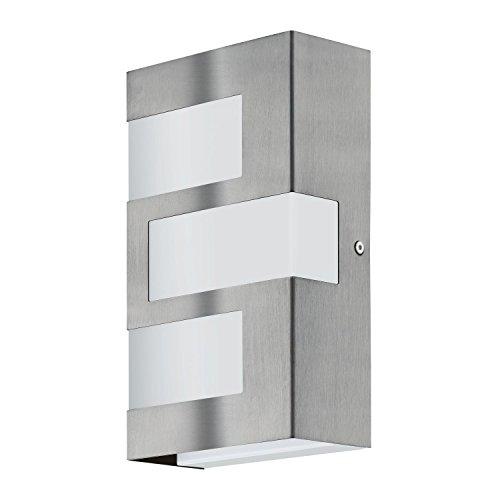 Moderne LED Wandleuchte Modern Edelstahl Weiß 540 Lumen 3-flammig 3000K Außenleuchte Sparlampe LED-Lampe Lampe Energiesparlampe Wandlampe