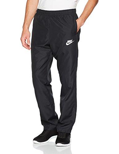 Nike Herren Open Hem Woven Hose, Black/White, XL