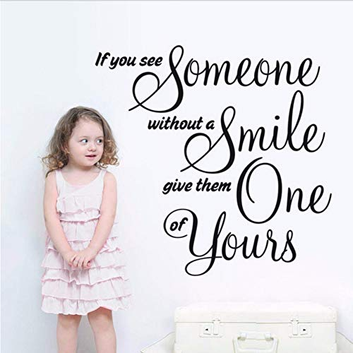 Gwgdjk ModerneLiebesbrief Geben Jemand Ihr Lächeln Warm Wandaufkleber Büros Social Motto Kinderzimmer Schön Dekoriert 42X57Cm