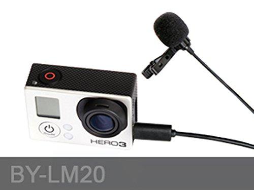 Boya Lavalier Kondensator-Mikrofon mit Mini-USB-Adapterkabel, für SLR und GoPro Hero 3+, Hero 3, Hero 2, 3,5mm Klinkenstecker