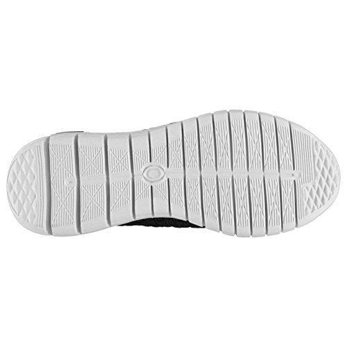 Fabric Damen Flyer Slipper Leicht Turnschuhe Atmungsaktiv Freizeit Schuhe Schwarz/Weiß