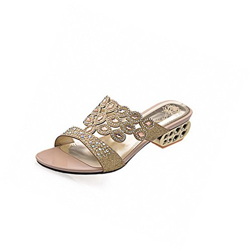voguezone009-womens-pull-on-low-heels-blend-materials-solid-open-toe-sandals-gold-39