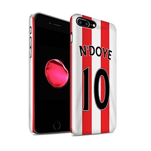Offiziell Sunderland AFC Hülle / Glanz Snap-On Case für Apple iPhone 7 Plus / Matthews Muster / SAFC Trikot Home 15/16 Kollektion N'Doye