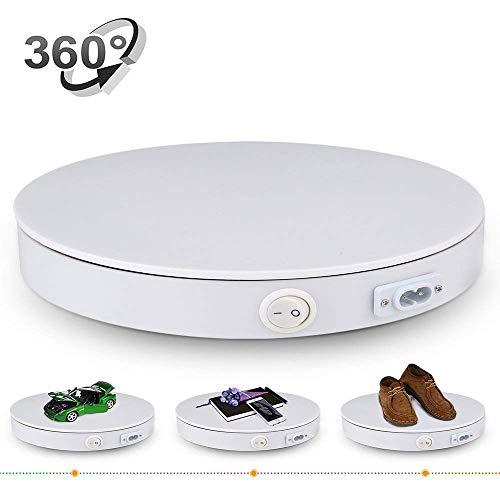 Professioneller Drehteller 360 Grad drehbar Durchmesser 40 cm Drehteller elektrisch weiß verwendbar ALS Unterlage für Fotos, Videos und Kuchen -50 kg Kapazität weiß (Kuchen Videos)