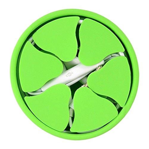 YJYdada Silikon-Mini-Kopfhörer-Halterung, mit Hartschalen-Aufwickler, Stretch-Ohrhörer-Aufbewahrung grün - Grau-wand-kunst Teal