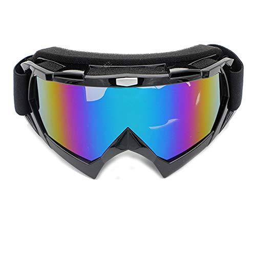 Adisaer Schutzbrille Werkstatt Motorradfahrer Brille Off Road Brille Skibrille Brille Reiten Brille Klettern Brille Black Blue Damen Herren