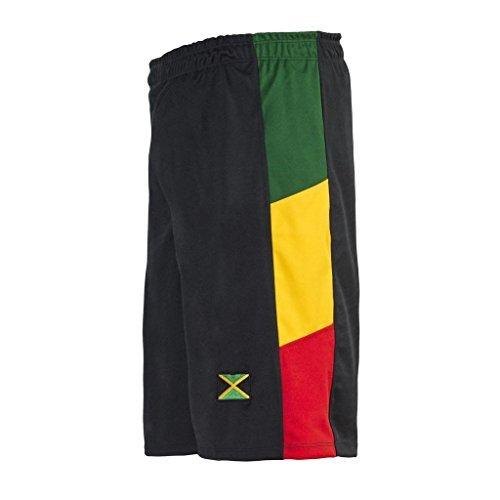 Reggae Männer Black Baggy Gym Sport Basketball Boxen Bermuda Shorts Beach Hosen Hosen