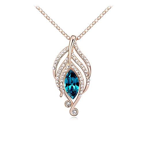 collier-avec-pendentif-plume-de-paon-fait-avec-swarovski-or-rose-18-carats-terminer-bijoux