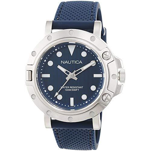 Nautica NST 800 Gent's Montre Homme Analogique Quartz avec Bracelet Caoutchouc NAD12547G
