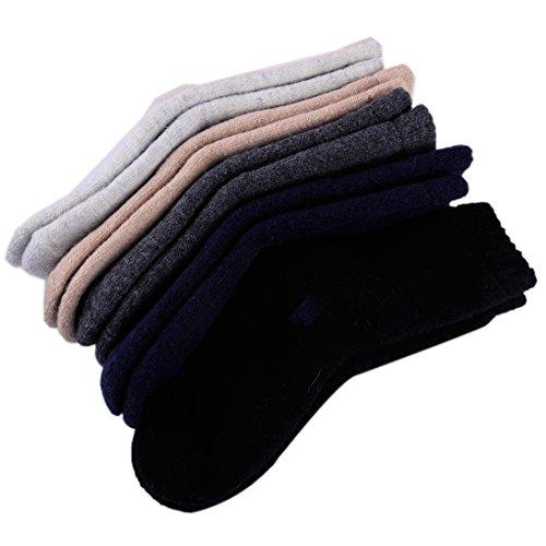5 Paare Männer Verdicken Thermal Freizeitsport Winterwandern Wolle Socken Komfortabel