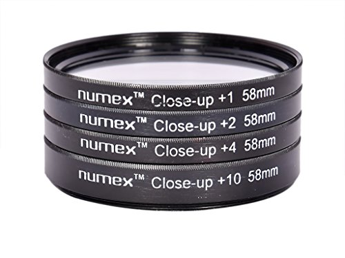 SHOPEE 58mm DELUXE MACRO CLOSE UP LENS KIT +1 +2 +4 +10 &+20 FOR CANON EOS 550D 1000D 600D 500D 40D 650D 700D FOR 18-55MM AND 55-250MM LENS  available at amazon for Rs.499
