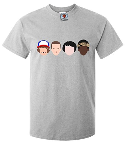 Bullshirt Herren fremde Gesichter T-Shirt hellgrau