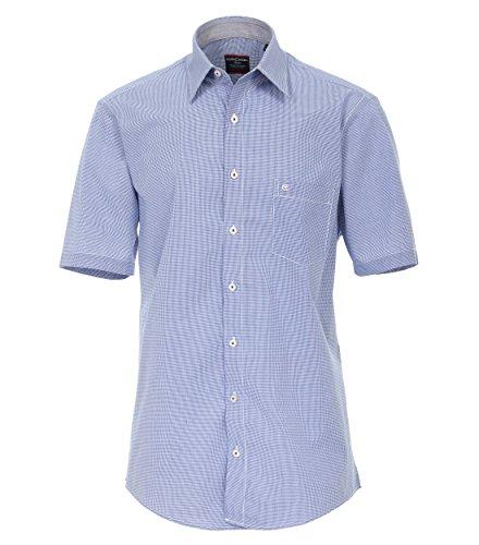 Casa Moda - Comfort Fit - Herren Freizeit 1/2-Arm-Hemd in verschiedenen Farben mit Kent-Kragen (983078500), Farbe:Blau (103), Größe:L (Rosa Karierte Hemd Herren)