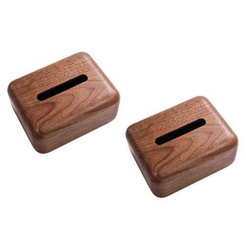 ZH Rechteckige Tissue Box Cover handgefertigte Holz Tissue Halter mit abnehmbarem Deckel für Home Office Decor Badezimmer Countertops Schlafzimmer Kommoden, antike Nussbaum braun,7×5×7,5 Zoll