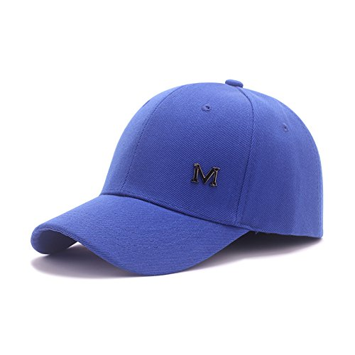 Les hommes et les femmes cor¨¦ennes ¨¦t¨¦ Automne couleur pure sauvages bend auvents baseball cap cap hip hop hat noir rose lettres M flexion r¨¦glable Rose auvents Blue