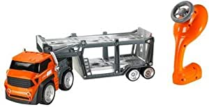 Hot Wheels Remote Control Car Transporter for 10 Cars (Orange) Import [Toy]